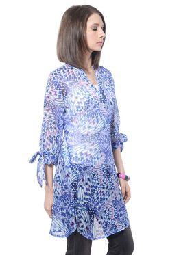 Meira Printed Poly Chiffon Women's Dress - Multicolour _ MEWT-1160-Multi