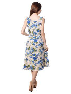 Meira Printed Crepe Women's Dress - Multicolour _ MEWT-1064-G-Multi