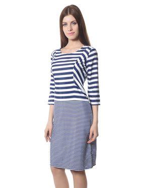 Meira Printed Crepe Women's Dress - White _ MEWT-1128-A-White