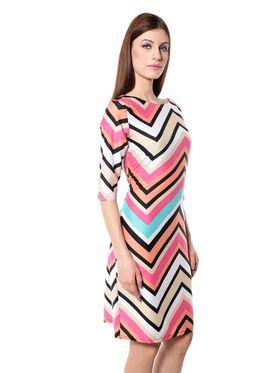 Meira Printed Crepe Women's Dress - Multicolour _ MEWT-1189-Multi