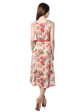 Meira Printed Crepe Women's Dress - Multicolour _ MEWT-1194-A-Multi