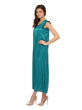 Clovia Satin Solid Nighty -NS0282P17
