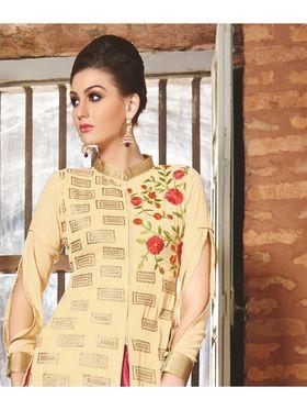 Viva N Diva Semi Stitched Georgette Floral Embroidered Semi Stitched Suits Nimaya-703
