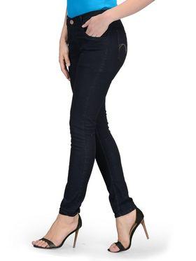 Oleva Combo Of 4 Blue & Black Denim+ Black & White_T-Shirt ONC-46