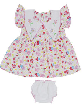 Ole Baby Beautiful Flutter Sleeves Stylish Frock_OB-FRCO-389