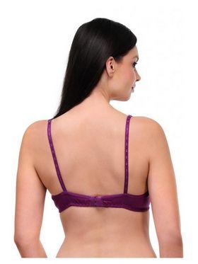 Oleva Cotton Plain Bra - Purple