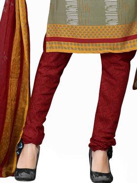 Khushali Fashion Crepe  Printed Unstitched Dress Material -PFCS515