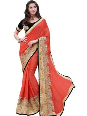 Indian Women Moss Jacquard  Saree -Ra10504