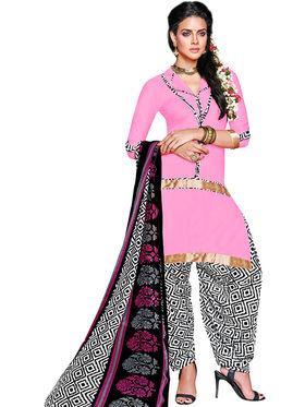 Khushali Fashion Crepe Self Dress Material -Rpsn99009
