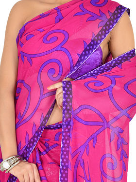 Set of 7 Rich Look Designer Collection Georgette Sarees (7G123)