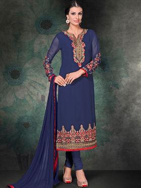 Viva N Diva Georgette Embroidered Semi Stitched Suit Rihanaa-1102