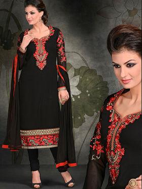 Viva N Diva Georgette Embroidered Semi Stitched Suit Rihanaa-1108