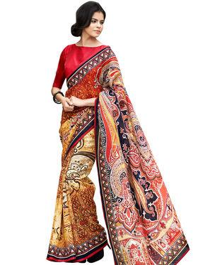 Nanda Silk Mills Linen Printed Saree Sap-1012