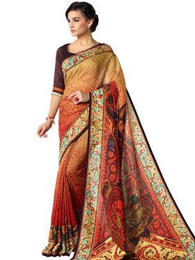 Nanda Silk Mills Linen Printed Saree Sap-1101