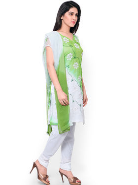 Florence Embroidered Chiffon Dress Material -SB-Ombre15