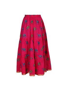 Amore Printed Cotton Skirt -Skv034P