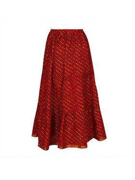 Amore Printed Cotton Skirt -Skv042R