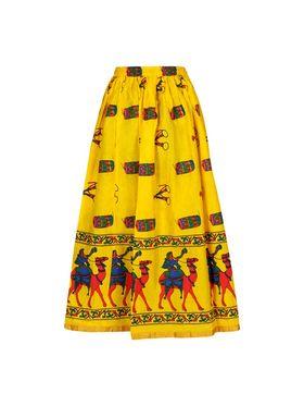 Amore Printed Cotton Skirt -Skv135Y