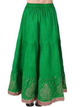 Amore Printed Cotton Skirt -SKV216G