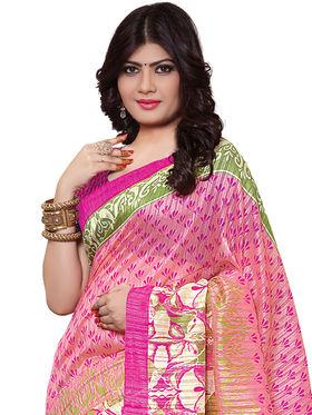 Shonaya Printed Handloom Cotton Silk Saree -Snkvs-3004-B