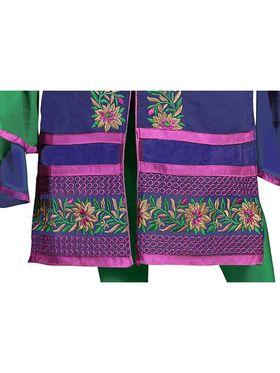 Khushali Fashion Chanderi Embroidered Dress Material -Ssblfr1005