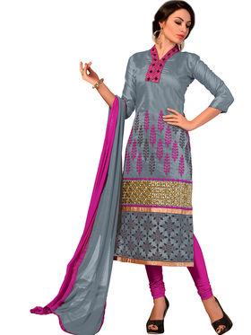 Khushali Fashion Chanderi Embroidered Dress Material -Ssblfr1011
