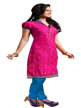 Khushali Fashion Chanderi Embroidered Unstitched Dress Material -SSKV41004