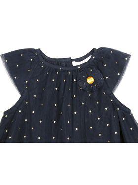 ShopperTree Solid Navy Blue Polyester Dress-ST-1691