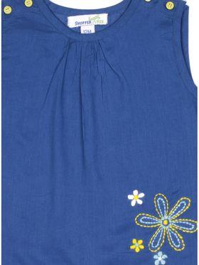 ShopperTree Solid Blue Cotton Twin set-ST-1726