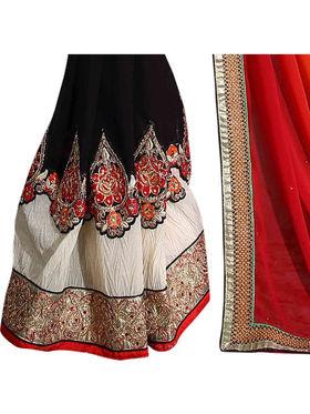 Khushali Fashion Georgette Crush Embroidered & Embellished Saree -Stpnhr10008