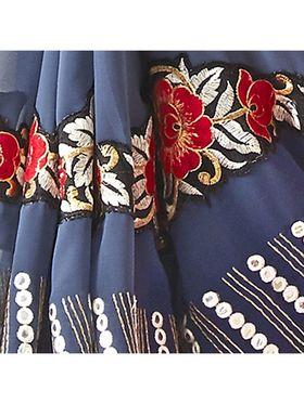 Khushali Fashion Embroidered Georgette Half & Half Saree_KF71
