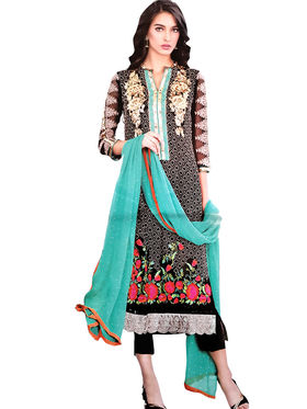 Thankar Semi Stitched  Georgette Embroidery Dress Material Tas269-2011