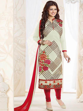 Thankar Semi Stitched  Georgette Embroidery Dress Material Tas270-0767