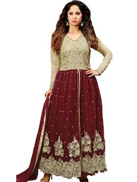 Thankar Semi Stitched  Silky Net Embroidery Dress Material Tas304-14012 B