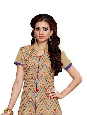 Thankar Semi Stitched  Cotton Embroidery Dress Material Tas280-2311