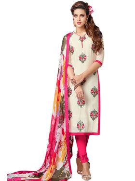 Thankar Semi Stitched  Cotton Embroidery Dress Material Tas281-105Dm
