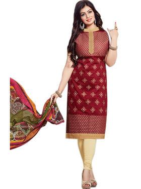 Thankar Semi Stitched  Cotton Embroidery Dress Material Tas288-2403