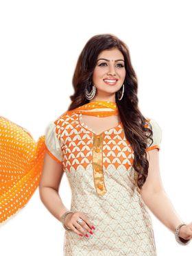 Thankar Semi Stitched  Cotton Embroidery Dress Material Tas288-2404