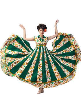 Thankar Semi Stitched  Banglori Silk Embroidery Dress Material Tas289-9710