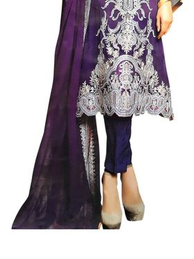 Thankar Semi Stitched  Faux Georgette Embroidery Dress Material Tas300-2030