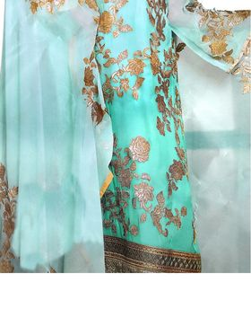 Thankar Semi Stitched  Faux Georgette Embroidery Dress Material Tas300-2031