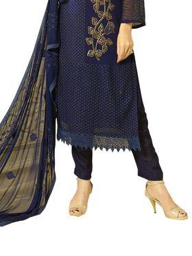 Thankar Semi Stitched  Chiffon Embroidery Dress Material Tas301-1972