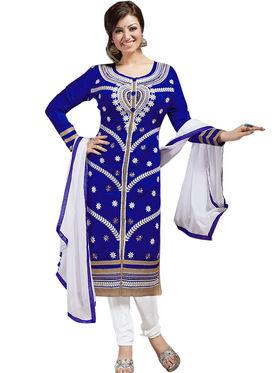 Thankar Semi Stitched  Chanderi Silk Embroidery Dress Material Tas308-6108