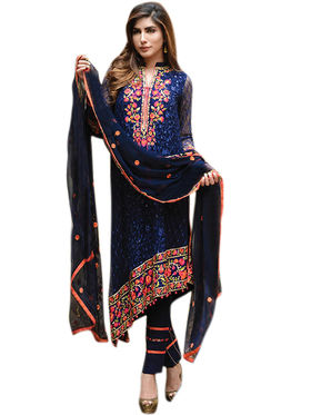 Thankar Semi Stitched  Faux Georgette Embroidery Dress Material Tas309-2080