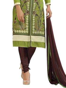 Thankar Embroidered Chanderi Cotton Semi-Stitched Suit  -Tas315-6306