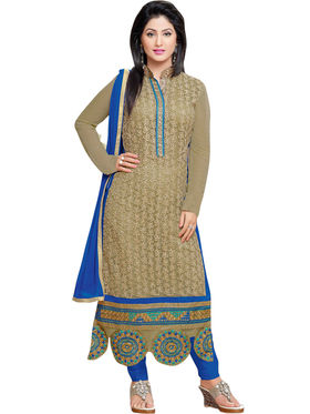 Thankar Embroidered Georgette Semi-Stitched Suit -Tas318-176
