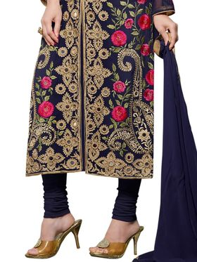 Thankar Embroidered Faux Georgette Semi-Stitched Suit -Tas331-20017