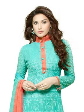 Thankar Embroidered Pure Chiffon Semi-Stitched Suit -Tas334-2145