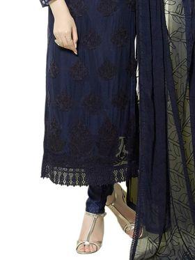 Thankar Embroidered Pure Chiffon Semi-Stitched Suit -Tas334-2146