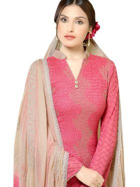 Thankar Embroidered Pure Chiffon Semi-Stitched Suit -Tas334-2148